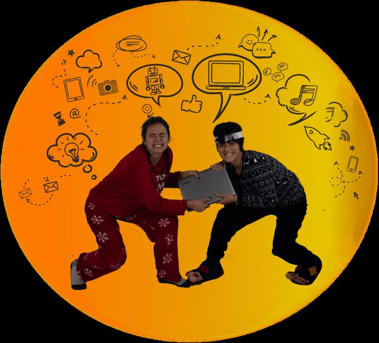Gašper in Daša v krogu